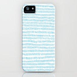 Blue grass - a handmade pattern iPhone Case