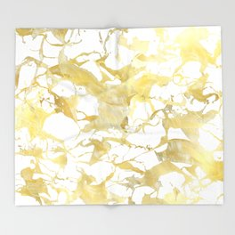 Marble gold Throw Blanket