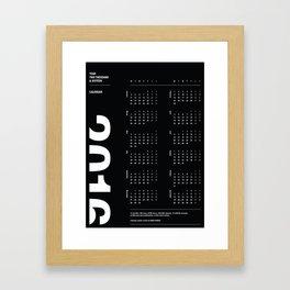 2016 Calendar | Dark Framed Art Print