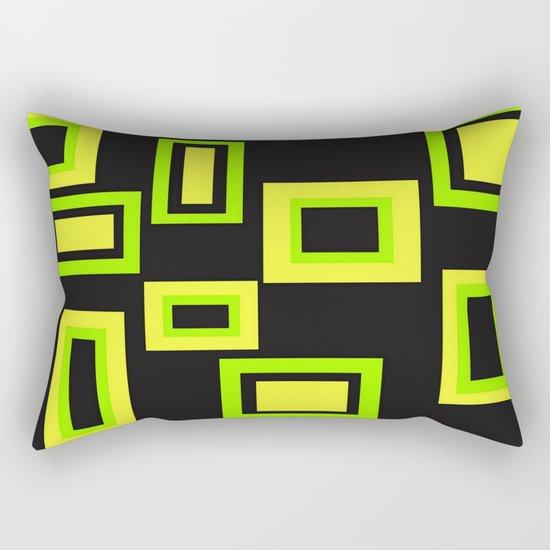 Abstract squares Rectangular Pillow