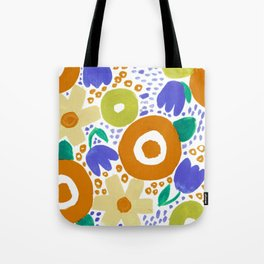 Bold Abstract Floral Inspired Pattern (Harvest Colors) Tote Bag