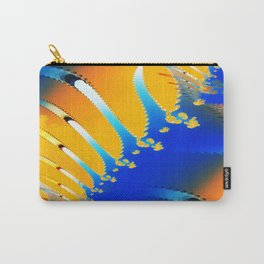 Lava Meets the Sea Fractal Carry-All Pouch