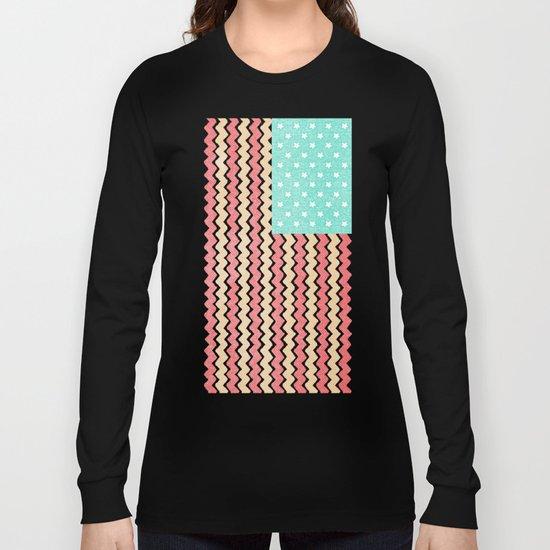 Zig Zag Flag. Long Sleeve T-shirt