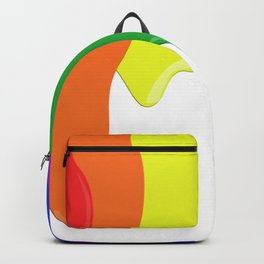 Watch the White Paint Backpack