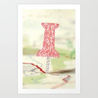 paper towns Art Prints featuring Paper Towns Typography by saycheese14