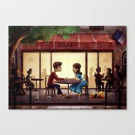 Lovers in Paris Canvas Print