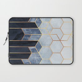 Soft Blue Hexagons Laptop Sleeve