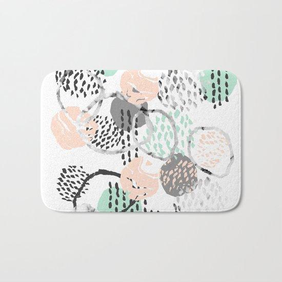 Brice - abstract minimal modern painting home decor minimalist art Bath Mat