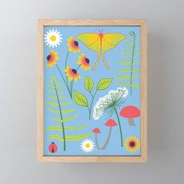 Botanical Woodland Forest Framed Mini Art Print