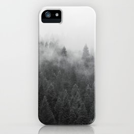 Black and White Mist Ombre iPhone Case