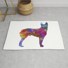 Australian Stumpy Tail Cattle Dog in watercolor-2 Rug