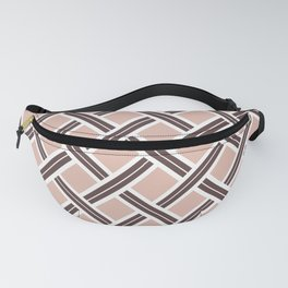 Modern Open Weave Pattern in Neutrals and Plums Fanny Pack