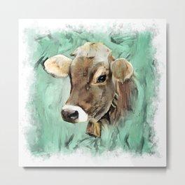 Pretty Cow Metal Print
