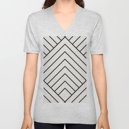 Diamond Series Pyramid Charcoal on White Unisex V-Neck