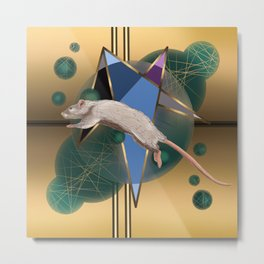 Jumping Mouse Metal Print