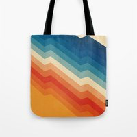 shapes Tote Bags featuring Barricade by Tracie Andrews