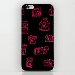 Camera: Pink - pop art illustration iPhone Skin