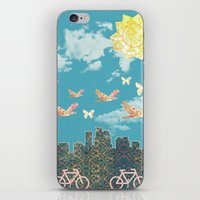 minneapolis iPhone & iPod Skins featuring Minneapolis Poster by MegaCork Photography