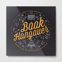 Book hangover Metal Print