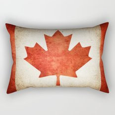Canada Flag (Grunge) Rectangular Pillow