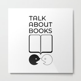 Talk About Books (Mix) Metal Print
