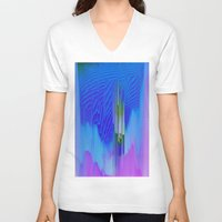 waterfall V-neck T-shirts featuring Waterfall by DuckyB