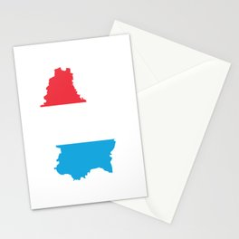 Love Luxembourg Gift Luxembourgish Pride Heart Stationery Cards