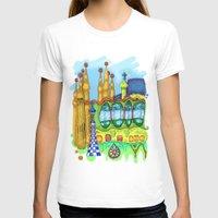 barcelona T-shirts featuring Barcelona by Aleksandra Jevtovic