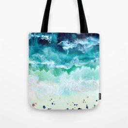 Aerial Beach Tote Bag