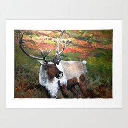 The Caribou Art Print