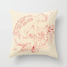Between Two Gods Throw Pillow