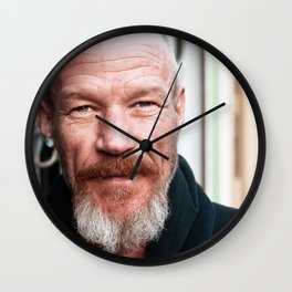 Portrait Of A Unique Soul Wall Clock