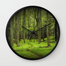 A Woodland Path in Cades Cove Wall Clock