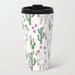 Llama Llamarama + Cactus Travel Mug