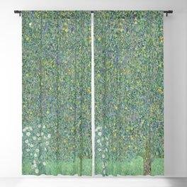 Gustav Klimt - Rosebushes under the Trees Blackout Curtain