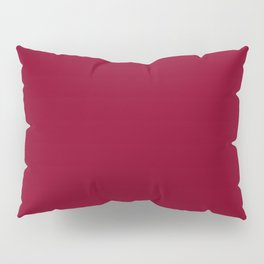 Solid Color Series - Burgundy Red Pillow Sham
