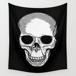 Monotone Skull Wall Tapestry