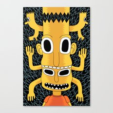 Cartoon Totem Canvas Print