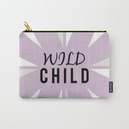 Wild Child - purple Carry-All Pouch