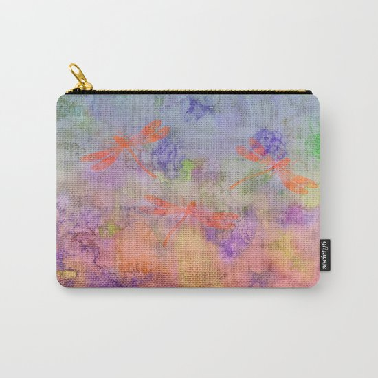 Orange Dragonflies A Carry-All Pouch