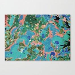 Painting lagoon Canvas Print