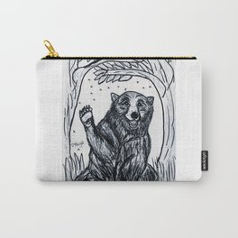 Friendly Brown Bear Carry-All Pouch