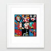 comics Framed Art Prints featuring COMICS by mark ashkenazi