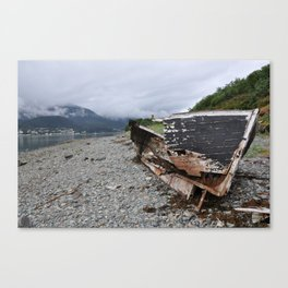 Old boat in Juneau, AK Canvas Print