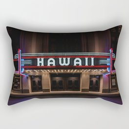 Hawaii Theater Rectangular Pillow