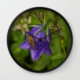 Bluebell Photography Print Wall Clock