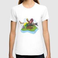 bigfoot T-shirts featuring Bigfoot Rocks! by Peteman