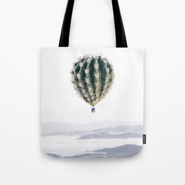 Flying Cactus Tote Bag