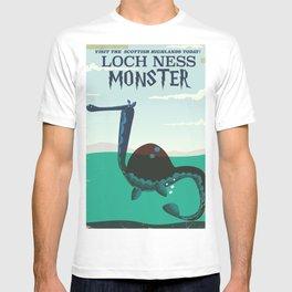 Loch Ness Monster vintage 'children's book' travel poster T-shirt