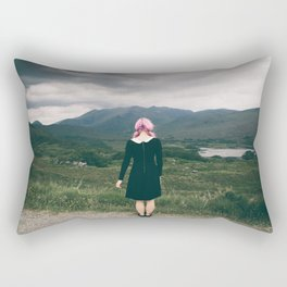 Ring of Kerry in Ireland - Girl with Pink Hair Rectangular Pillow